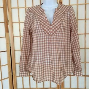 Holding Horses Anthro Checkered Lightweight Top